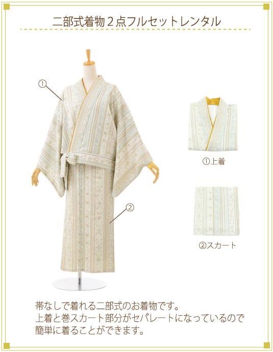 二部式着物着付ご入り用フルセットの内容