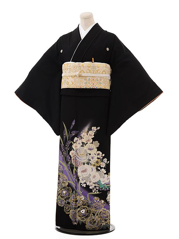 黒留袖レンタル4345桂由美喜びの花束