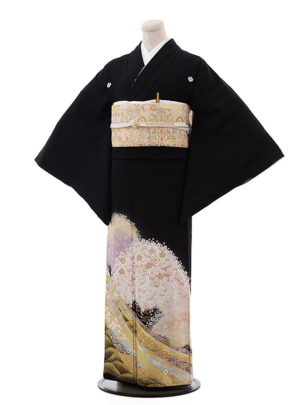 黒留袖4429夢二浪漫遠山桜に熨斗