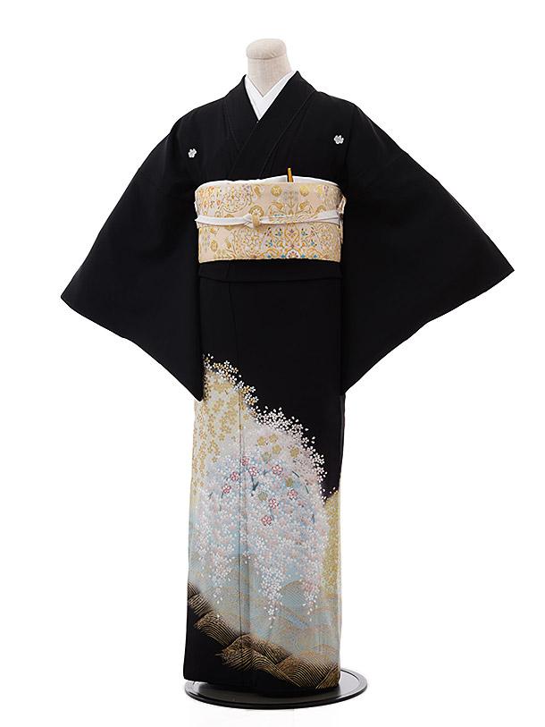 黒留袖4431夢二浪漫遠山桜