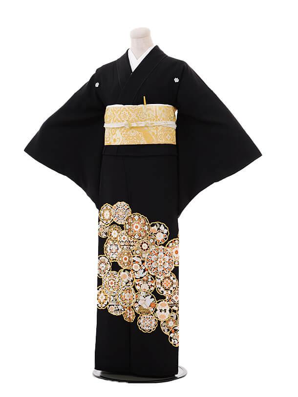 黒留袖4446手刺繍 華紋