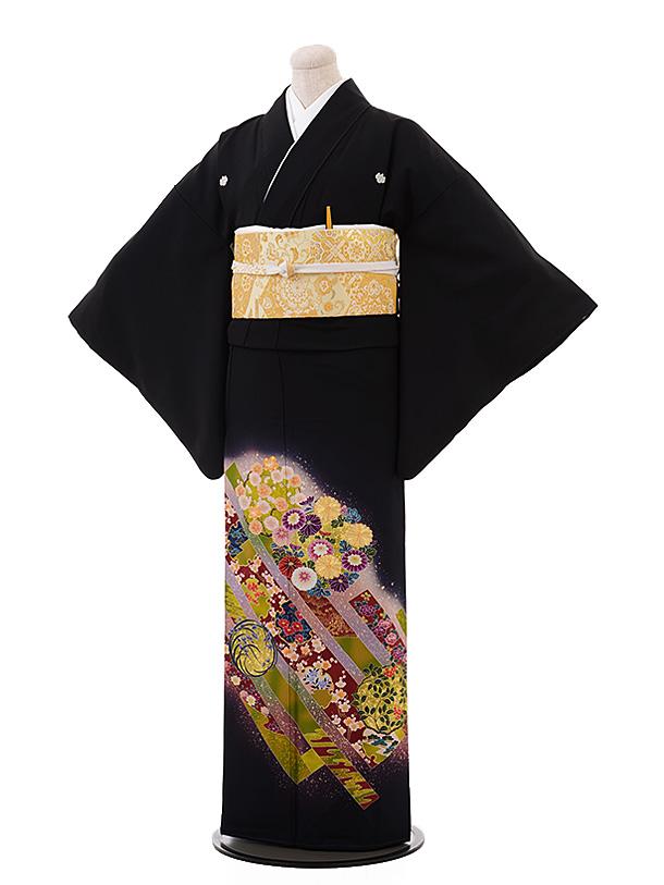 留袖 レンタル 4470 紫 花丸