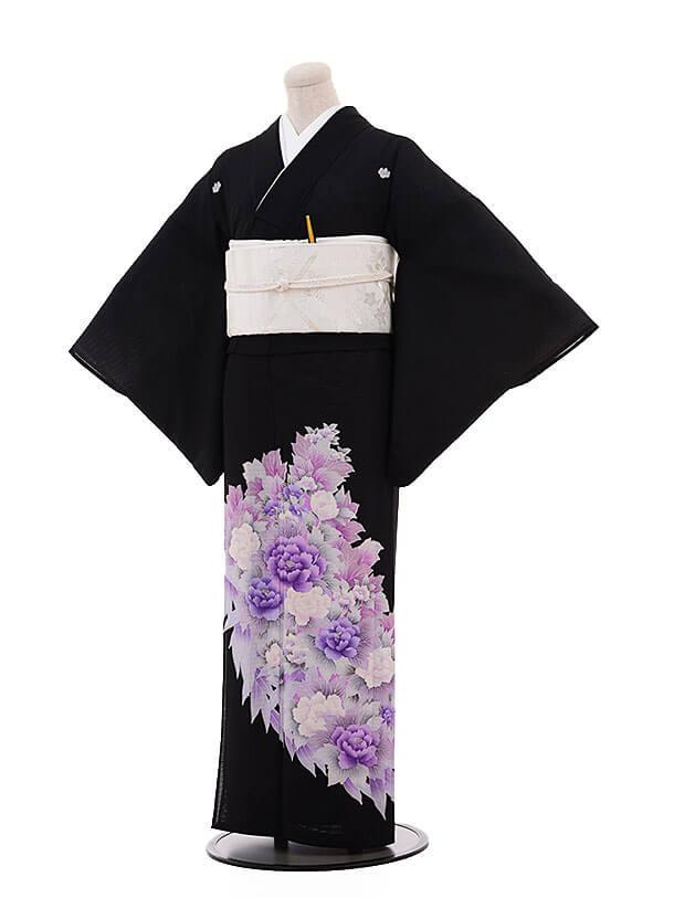 夏留袖 5362 紫 牡丹