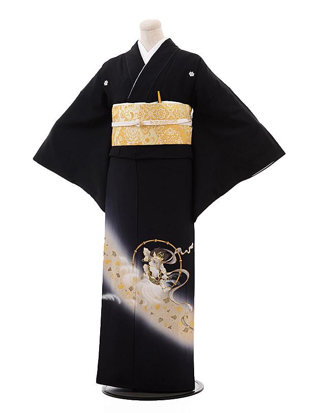 留袖 レンタル 5363 藤本隆士 風神雷神(らでん)