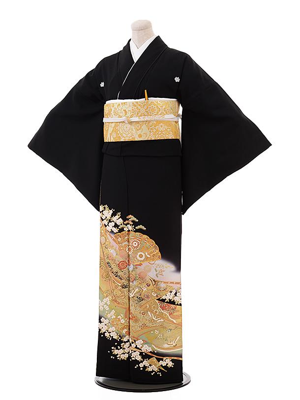 留袖 レンタル 5373 桂由美 パステルグリーンぼかし 扇に桜