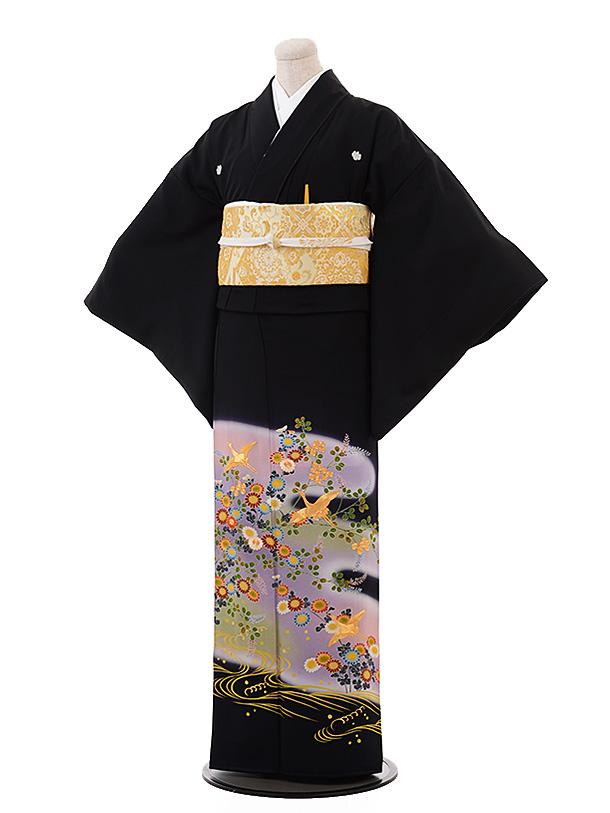 留袖 レンタル 5374 うす紫 菊に鶴
