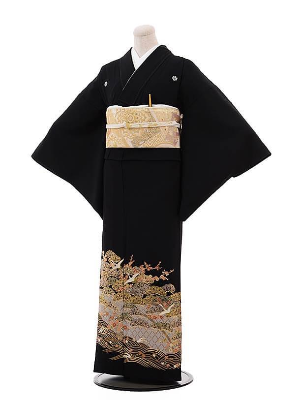 留袖 レンタル C6093 松梅鶴〔単衣〕