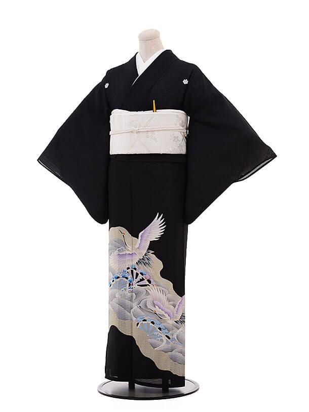 夏留袖 7041 波に鶴