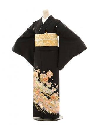 留袖 レンタル E083 熨斗目に雪輪花