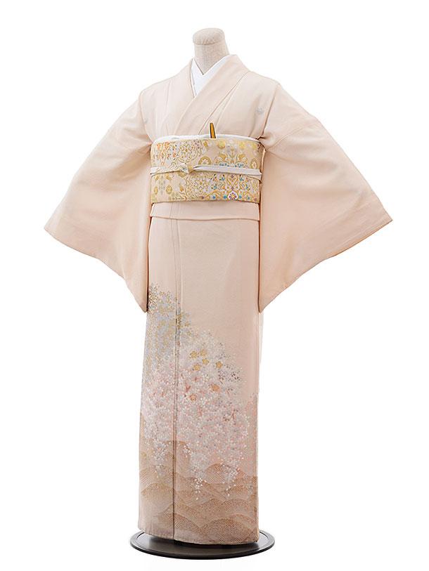 色留袖レンタル682夢二浪漫薄ピンク地遠山桜
