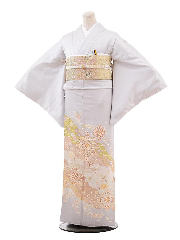 色留袖レンタル 710 うすグレー 華紋