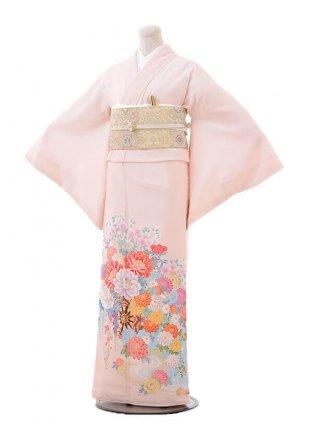 色留袖レンタル 712 JAPANSTYLE ピンク地 水面に花づくし