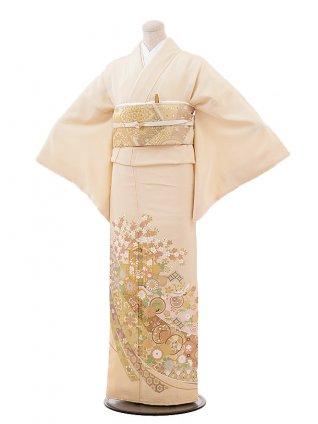 色留袖レンタル715 桂由美 ベージュ地 桜 貝