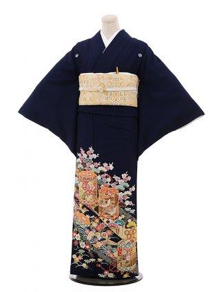色留袖レンタル 722 ジャパンスタイル 濃紺 のし