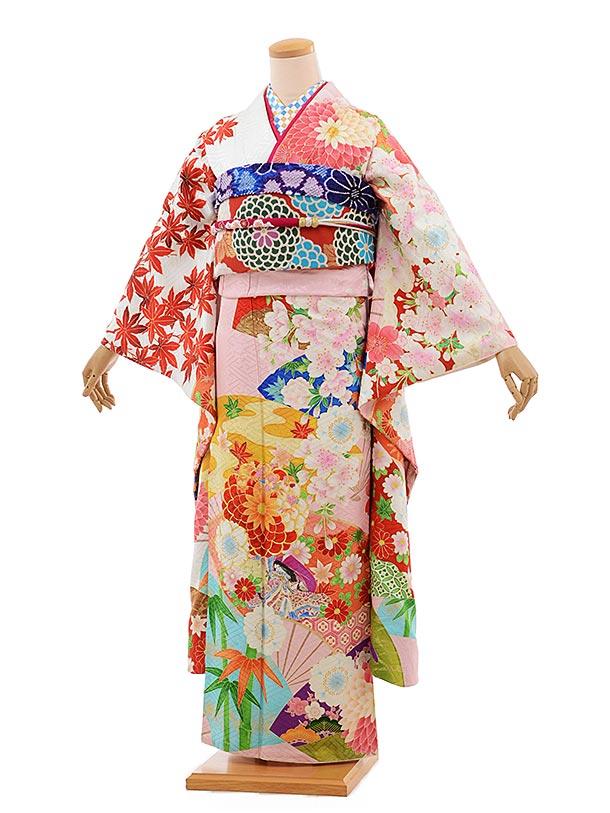 振袖 1070 [JAPAN STYLE]×ちはやふるうすピンク地 古典