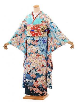 振袖レンタル1085 高級振袖(桂由美)北斎 桜に富士