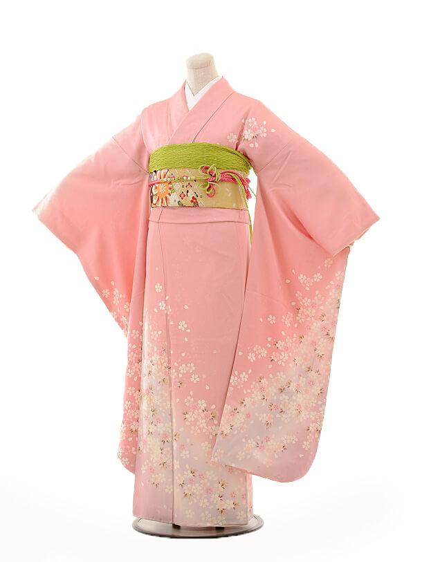 振袖E123 淡ピンク小花ちらし