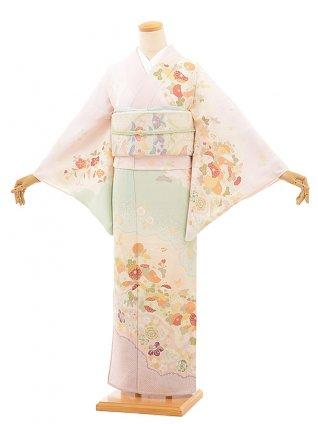 夏訪問着レンタル830 ジャパンスタイル 絽 ピンク 雲取