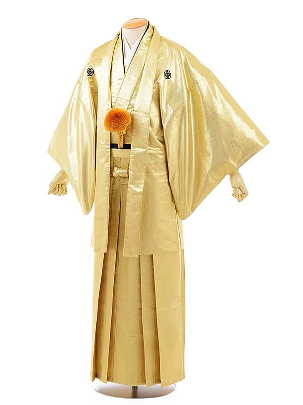 男性用袴men0127 ゴールド 紋服×ゴールド袴