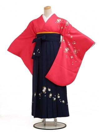 卒業袴レンタル h011ローズ花