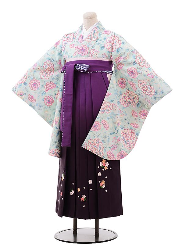 卒業袴レンタル h183 JILLSTUART(着物のみ) 水色×紫ぼかし袴