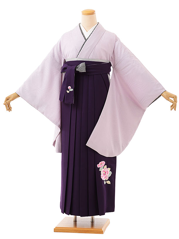 卒業袴レンタル h742 九重 薄パープル亀甲地紋xパープル袴