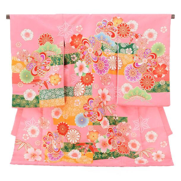 産着レンタル 女の子(お宮参り)1223 ChouChouピンク 花