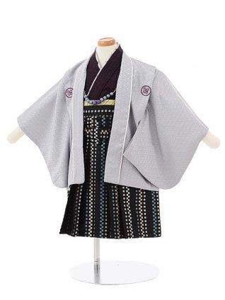 男児【1歳前後】 0059 薄グレー羽織袴セット/セパレート