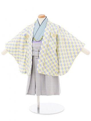男児【1歳前後】 0062 黄青キューブ羽織袴