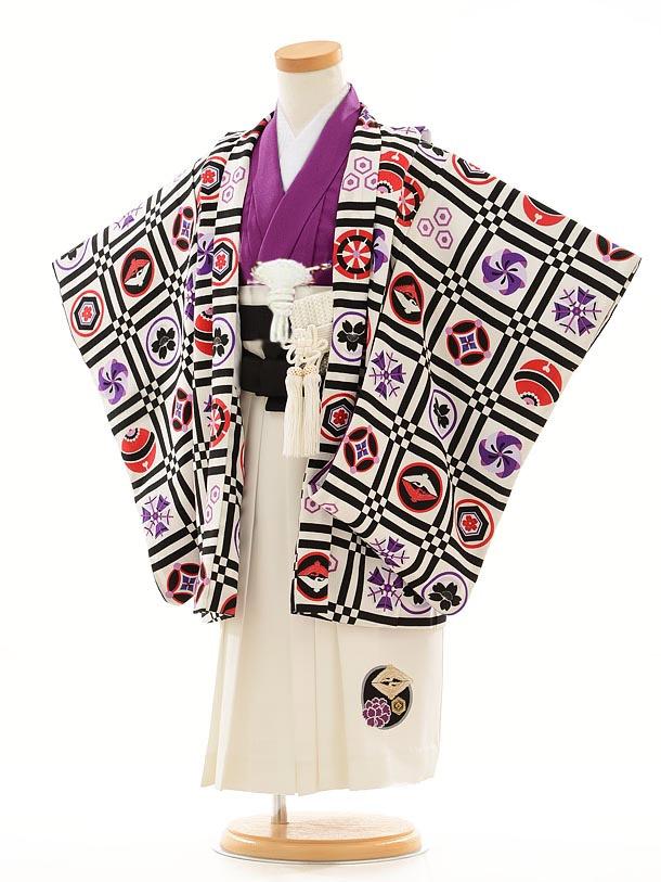 かんたん七五三(3歳男袴)0205つるの×JSパープル