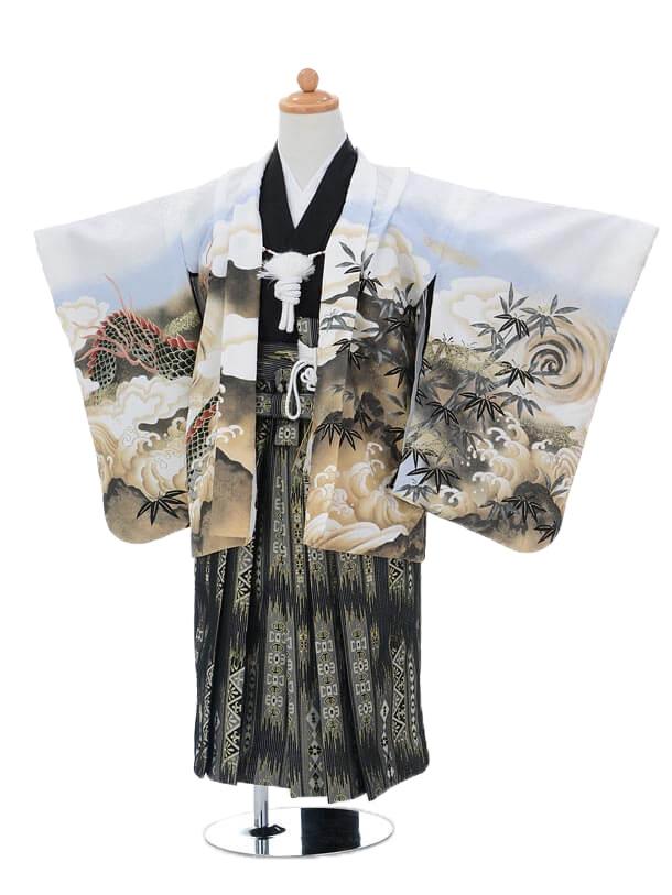 かんたん七五三(3歳男袴)0207白虎と龍