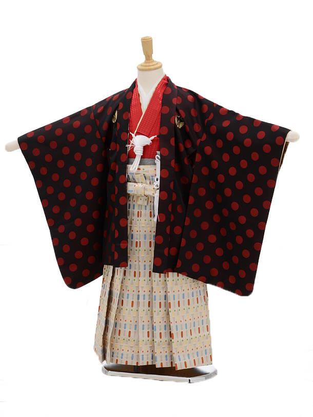 かんたん七五三(3男袴)0284 ひさかたろまん 赤水玉