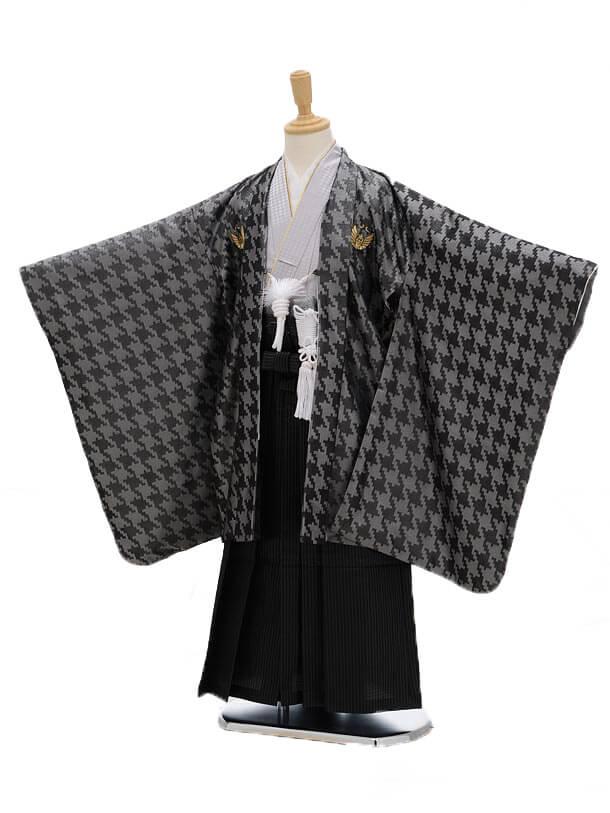 かんたん七五三(3男袴)0286 ひさかたろまん 黒×シル