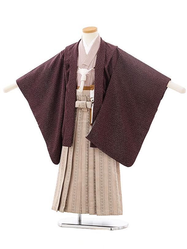 753レンタル(5歳男の子袴)0547ぷちぷり夢工房×グレーベージュ袴