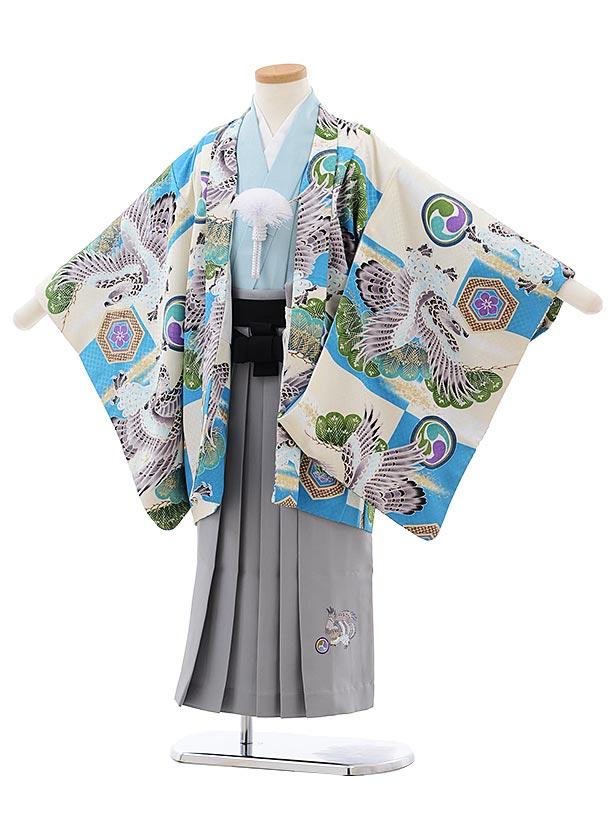 753レンタル(5歳男の子袴)0557小林星蘭 九重×グレー袴