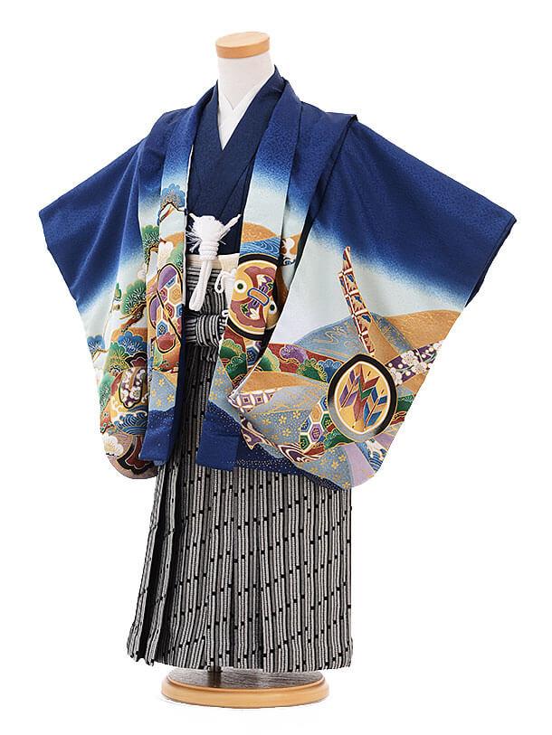 ▶七五三(3歳男袴)2120 紺地 丸紋鷹