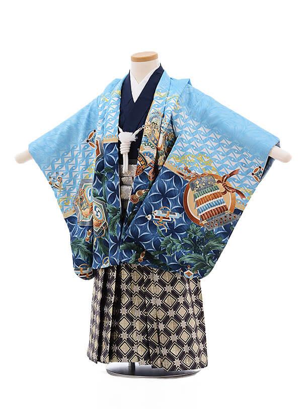 七五三レンタル(3歳男袴)2129 ジャパンスタイル多色鷹 グリーン