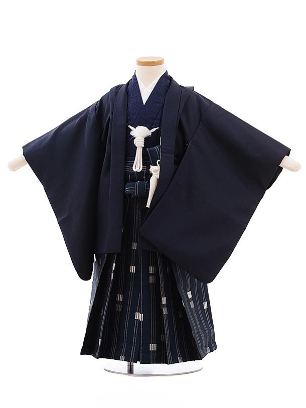 かんたん七五三(3歳男児袴)2269 紺×紺シルバー袴