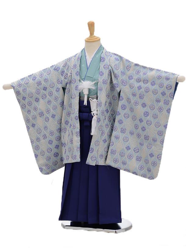 七五三レンタル(5男袴)5109ひさかたろまん水色×ブルー袴
