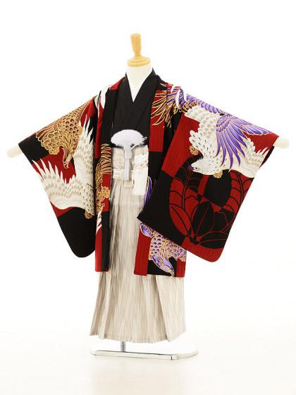 七五三レンタル(5歳男の子袴)5124JAPANSTYLE 赤×クリーム地袴