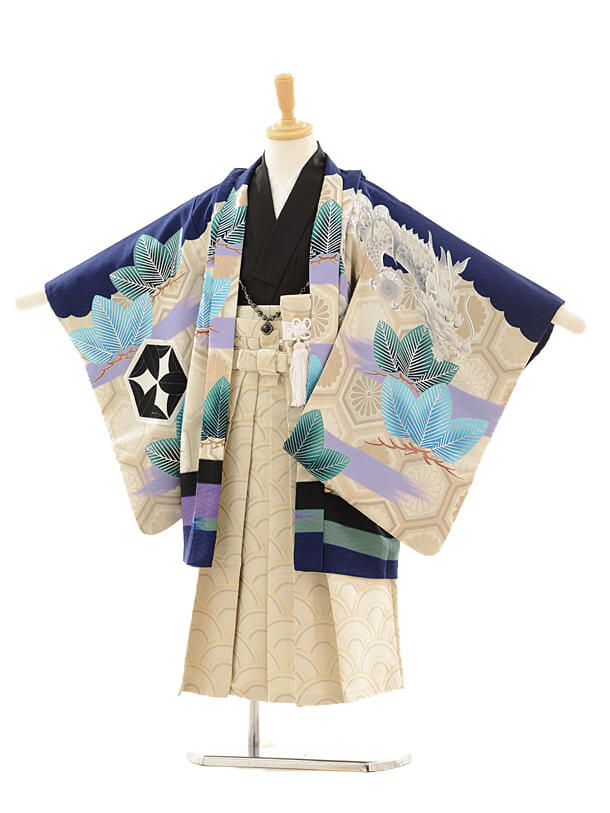 七五三レンタル(5歳袴)5150九重絵羽鯉のぼり紺