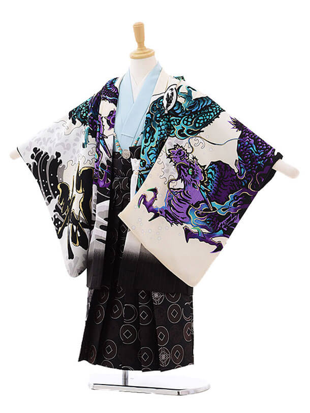 七五三レンタル(5歳男の子袴)5203内田篤人 JAPANSTYL×濃茶袴