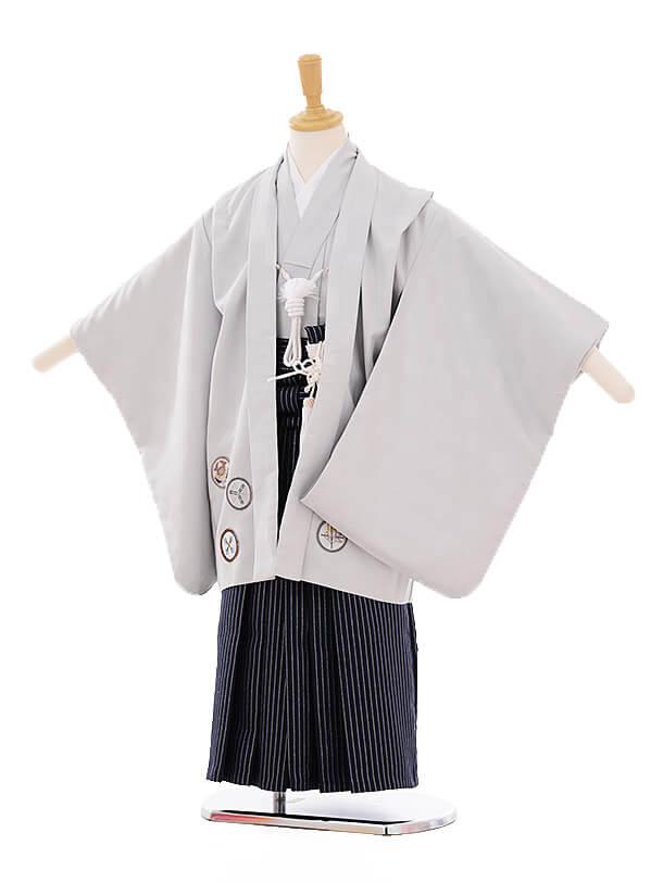 七五三(5歳男袴)5262 グレー地 丸紋