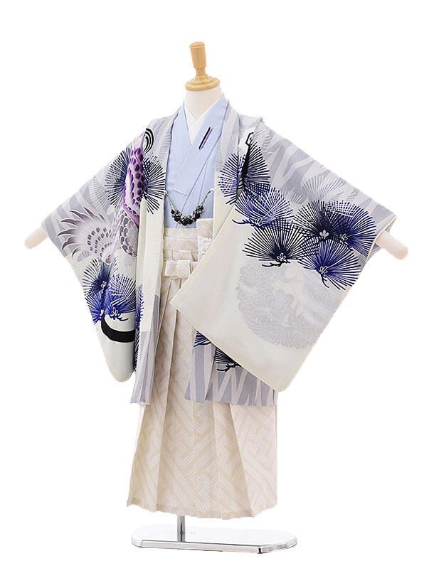 七五三レンタル(5歳男の子袴)5291JAPANSTYLE グレー鷹×薄黄袴