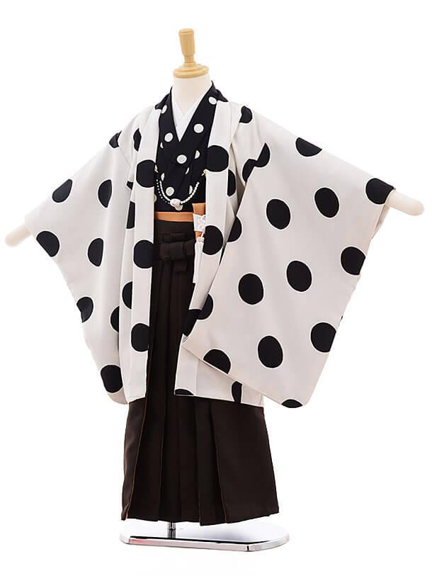 七五三レンタル(5男袴)5342 白黒 ドット