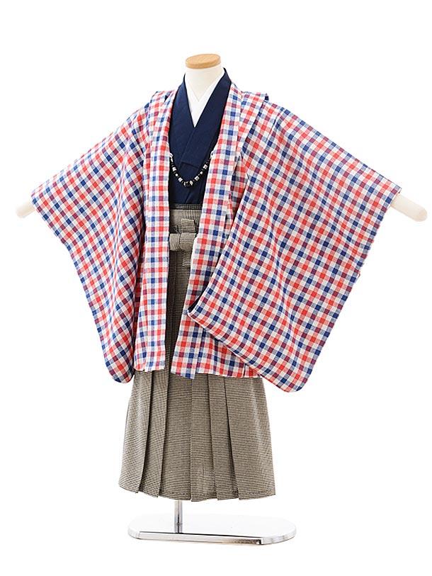 かんたん七五三レンタル(5男袴)5566 チェック×千鳥格子袴