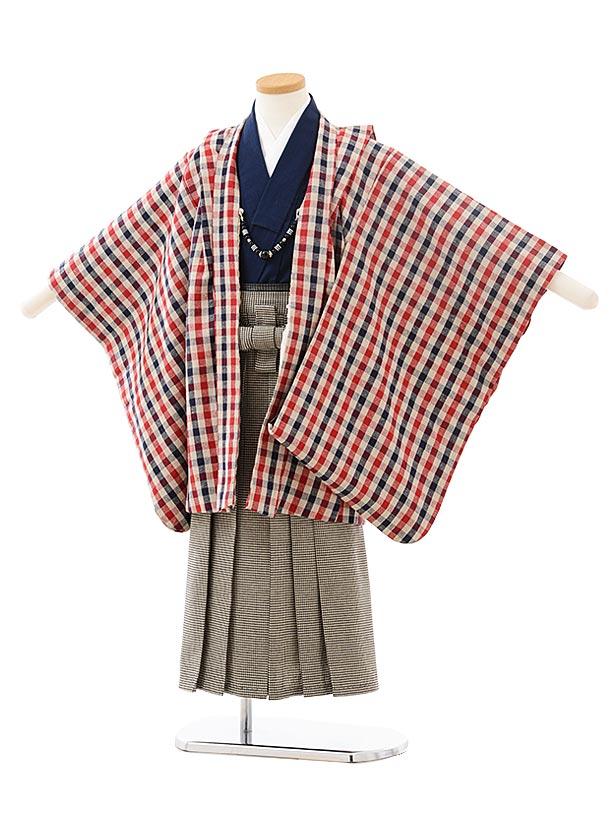 かんたん七五三レンタル(5男袴)5567 チェック×千鳥格子袴