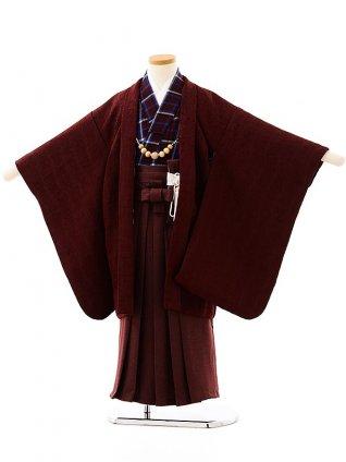 七五三(5歳男袴)5713 ボルドーxボルドー袴