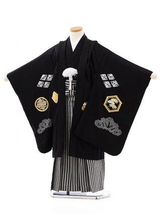 七五三レンタル(5歳男袴)(高級正絹)5818黒