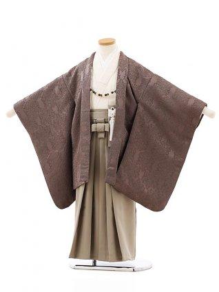 七五三レンタル(5歳男袴)5849モカ茶xベージュ袴